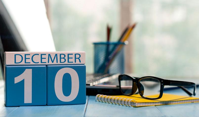 10 December Self-assessment Tax Return deadline